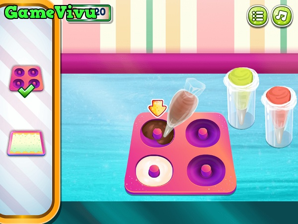 game Làm bánh Donut kem tươi hình ảnh 2