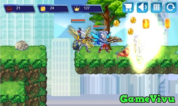 game Siêu nhân điện quang 2 người chơi