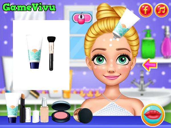 game Trang điểm công chúa tóc mây hình ảnh 1