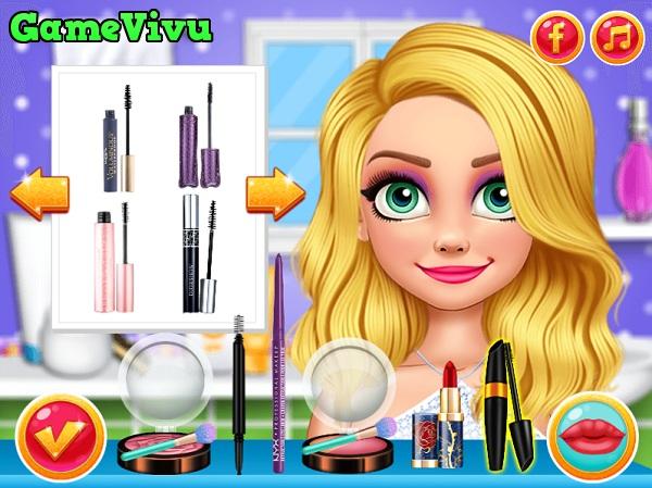 game Trang điểm công chúa tóc mây hình ảnh 2