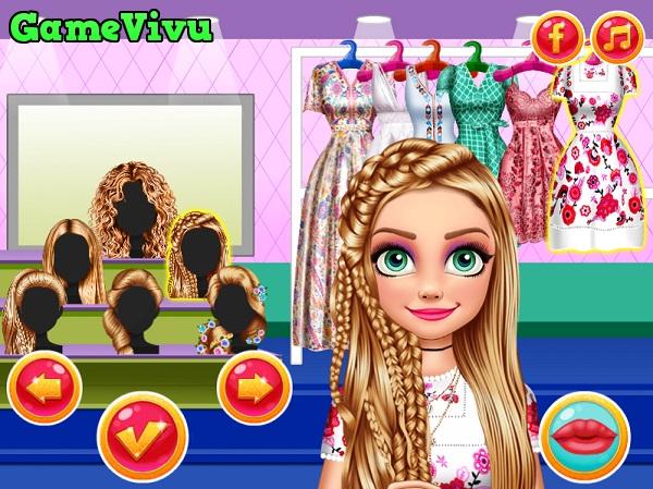 game Trang điểm công chúa tóc mây hình ảnh 3