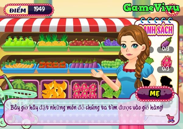 game Bé Mary đi siêu thị hình ảnh 3