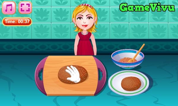 game Làm bánh hamburger phô mai hình ảnh 2