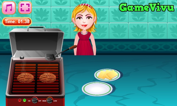 game Làm bánh hamburger phô mai hình ảnh 3