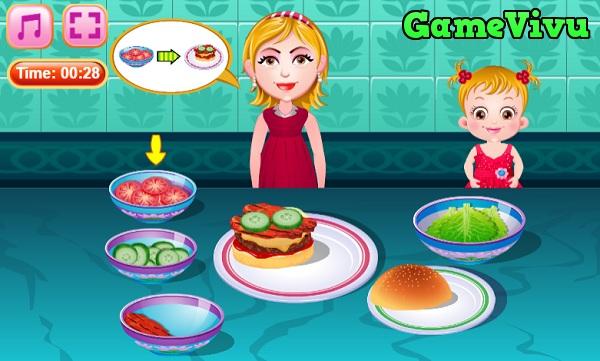 game Làm bánh hamburger phô mai hình ảnh 4