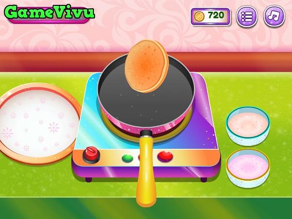 game Làm bánh pancake kem trái cây hình ảnh 2