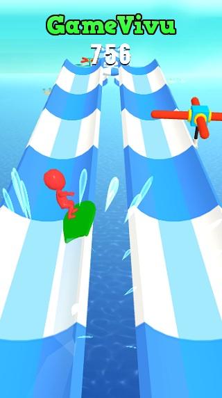 game Lướt ván nước water race 3d