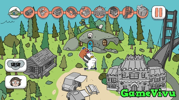 game Chúng tôi đơn giản là gấu lái xe scooter hình ảnh 1