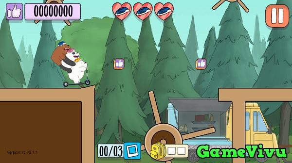 game Chúng tôi đơn giản là gấu lái xe scooter hình ảnh 2
