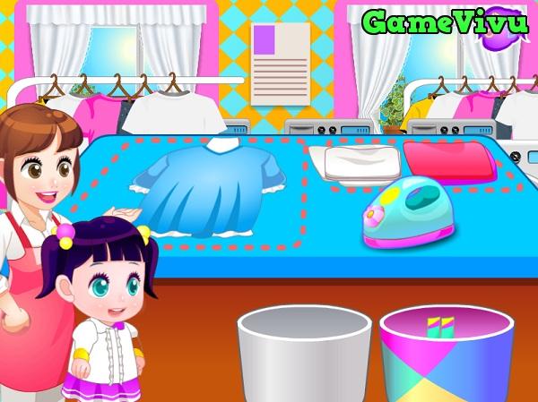 game Giặt quần áo giúp mẹ
