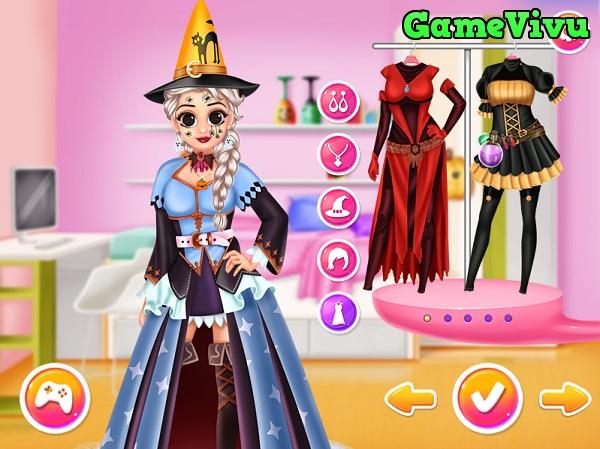 game Halloween của Elsa và Anna hình ảnh 2