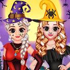 Halloween của Elsa và Anna