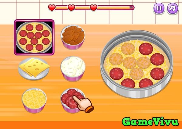 game Làm bánh pizza nhiều lớp hình ảnh 2