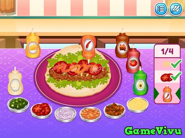 game Làm bánh taco Mexico hình ảnh 3