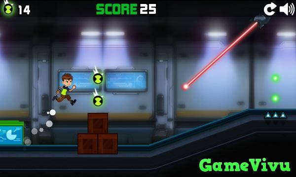 game Ben 10 chạy trốn hình ảnh 1