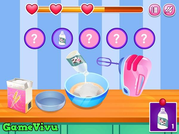game Làm bánh cupcake kem cốc hình ảnh 1