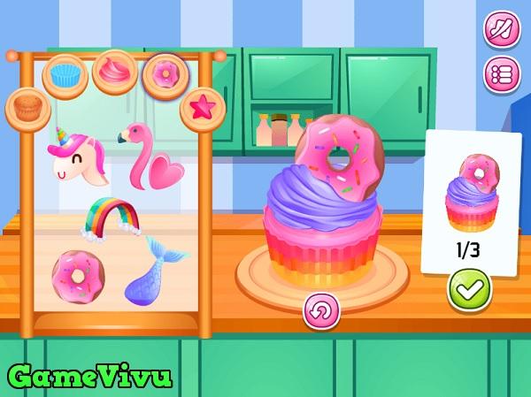 game Làm bánh cupcake kem cốc hình ảnh 3