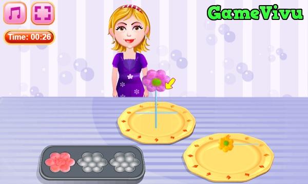 game Làm bánh cupcake bông hoa hình ảnh 2
