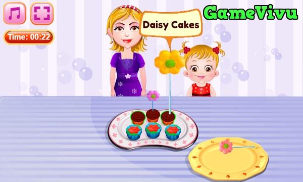 game Làm bánh cupcake bông hoa hình ảnh 3
