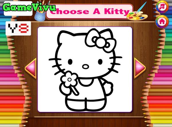 game Tô màu Hello Kitty hình ảnh 1