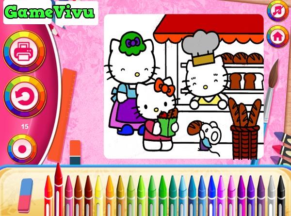 game Tô màu Hello Kitty hình ảnh 2
