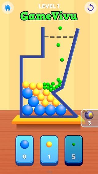 game Thả bóng vào bình hình ảnh 1