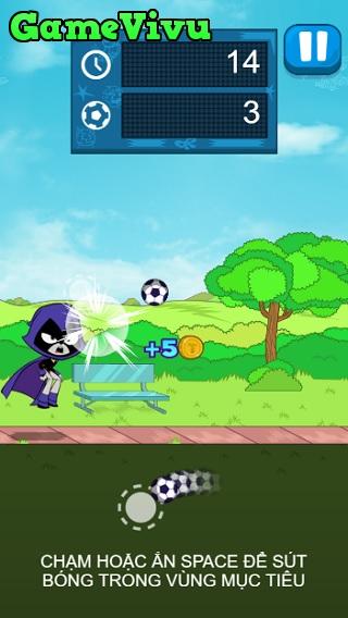 game Biệt đội thiếu niên Titan sút bóng hình ảnh 1