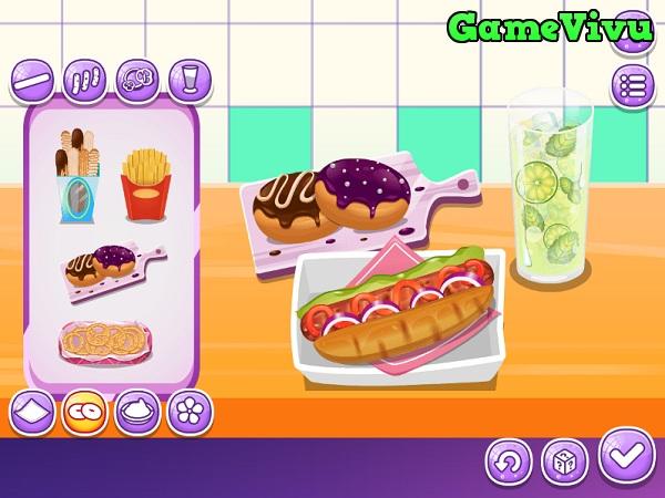 game Bánh mì hotdog Nom Nom hình ảnh  3