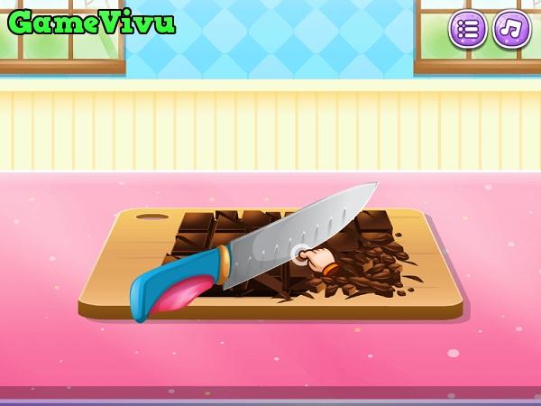 game Làm bánh mousse socola hình ảnh 1
