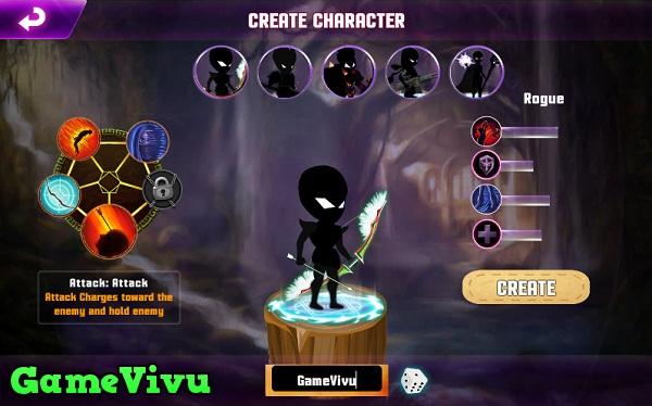 game Chiến binh bóng tối đánh nhau với quái vật