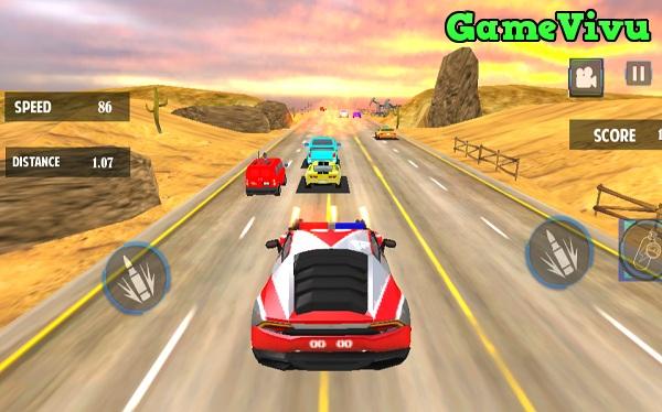 game Đua xe cảnh sát bắn súng hình ảnh 1