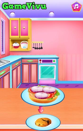 game Emma làm bánh hamburger hình ảnh 3